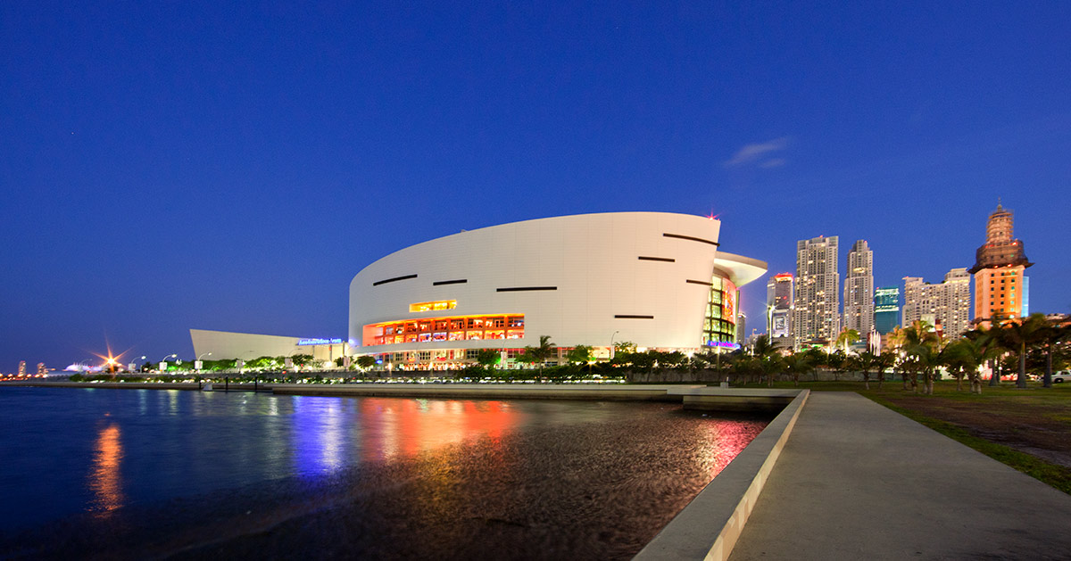 American Airlines Arena Water View
