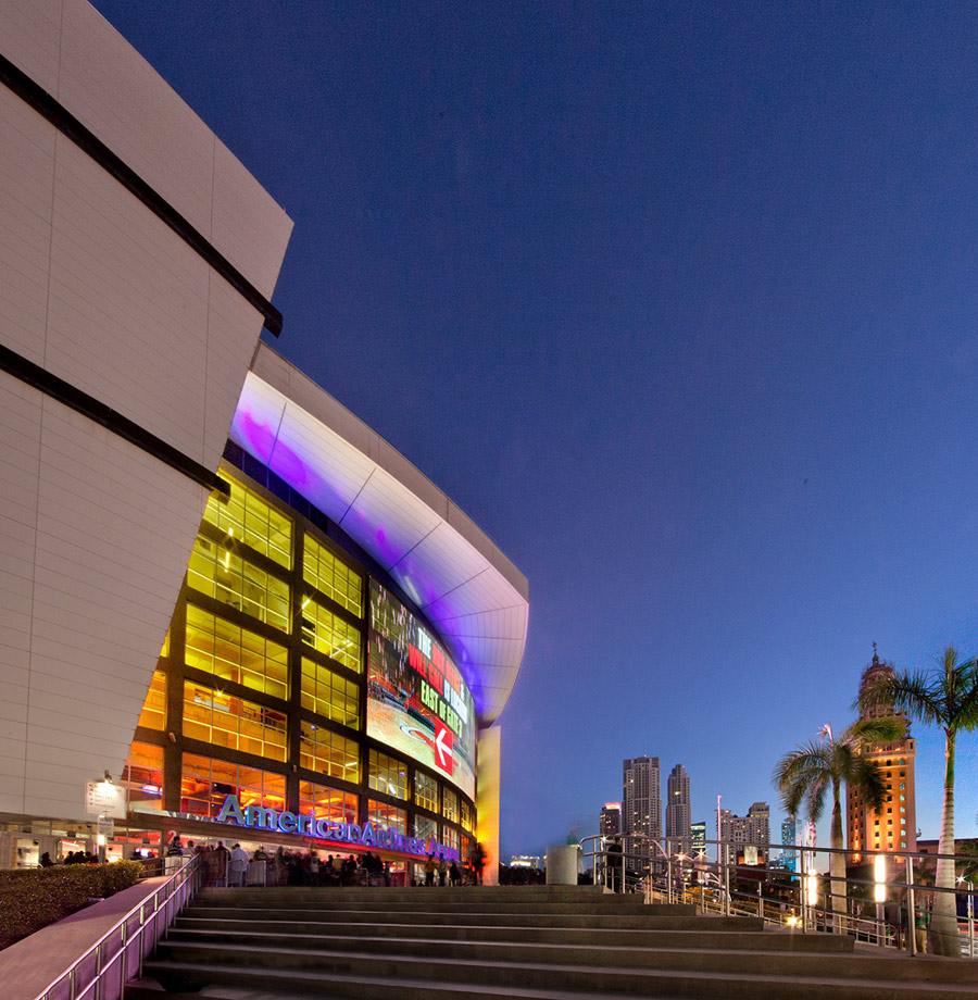 American Airlines Arena Stairway View