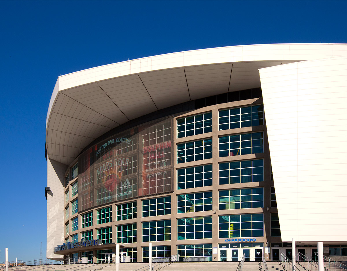 American Airlines Arena GKD Panels