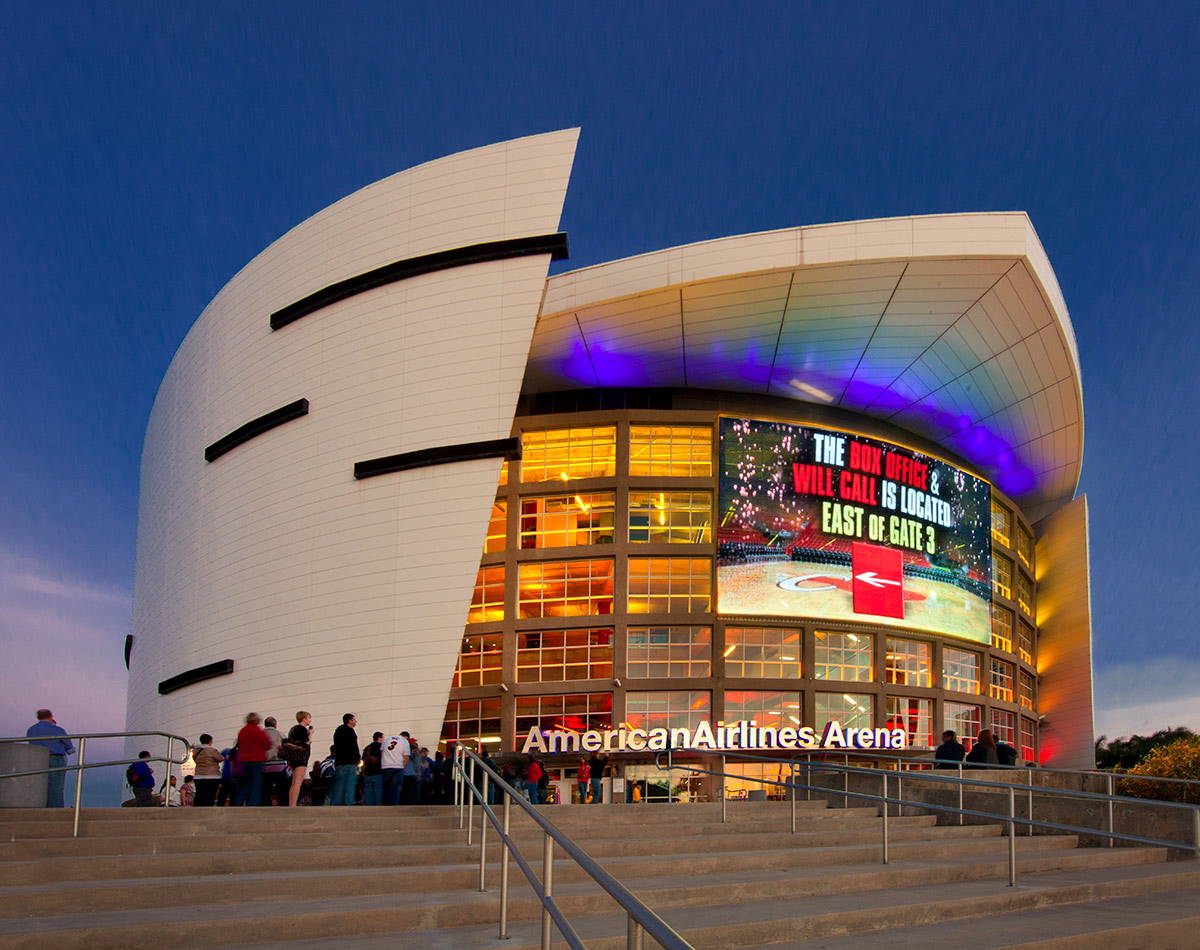 American Airlines Arena Dusk View