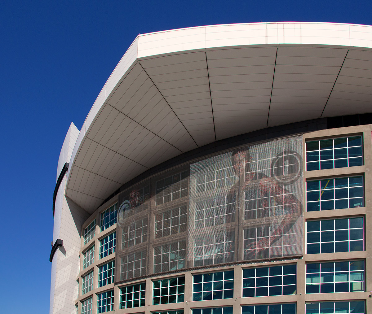 American Airlines Arena Metal Fabric Panel