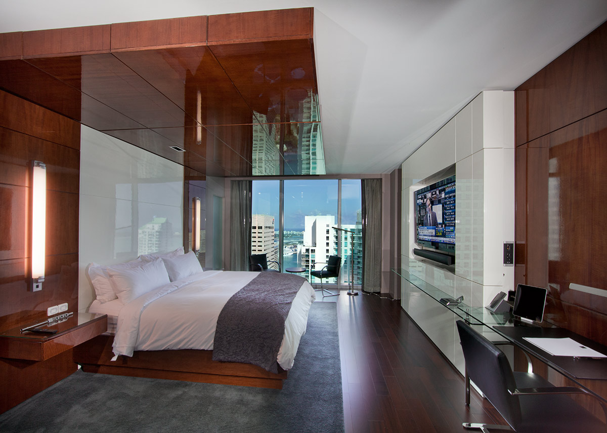 The executive suite at the JW Marriott Marquis in downtown Miami provides a luxury hospitality experience.