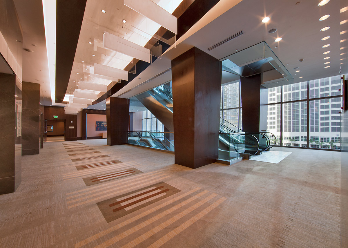 Pre function facilities at the JW Marriott Marquis in downtown Miami providing a luxury hospitality experience.