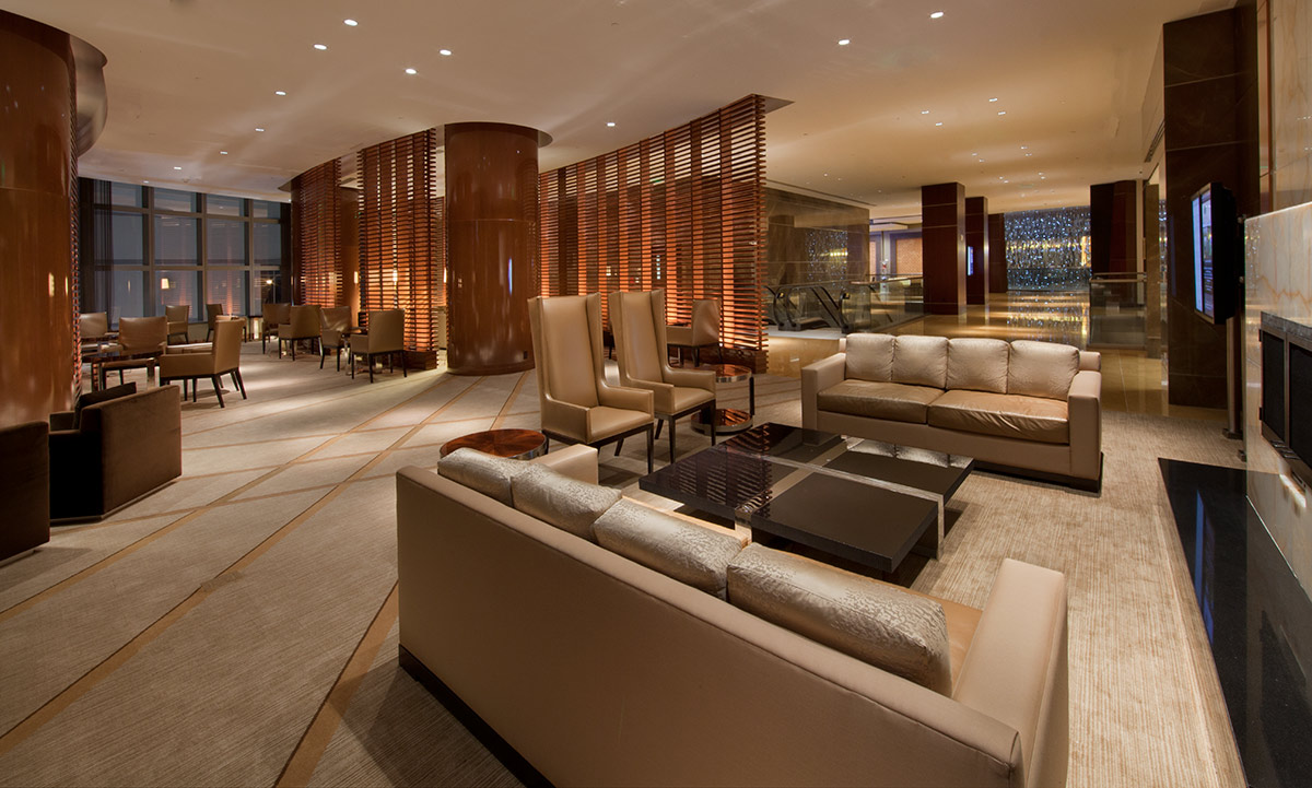 Guest Lounge at the JW Marriott Marquis in downtown Miami providing a luxury hospitality experience.