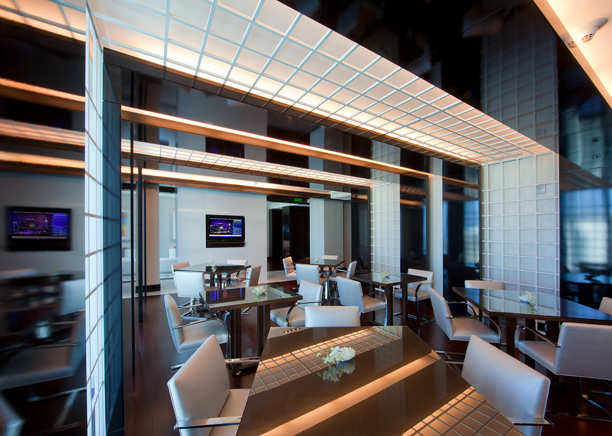 Club room of Beaux Art at the JW Marriott Marquis in downtown Miami providing a luxury hospitality experience.